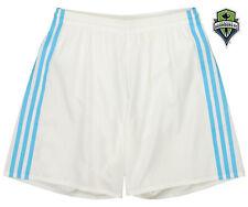 adidas MLS Men's Adizero Team Color Short, Seattle Sounders FC- White/Blue