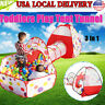 Portable Kids Indoor Outdoor Play Tent Crawl Tunnel Set 3 in 1 Ball Pit Toy US