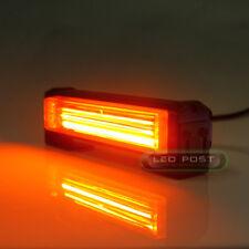 "Amber 6"" 20W COB LED STROBE SIG Hazard Warning Emergency Roof Light Bar Mount"