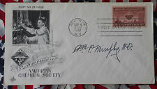 SIGNED FIRST DAY COVER WILLIAM P. MURPHY NOBEL PRIZE WINNER, LIFETIME COA.