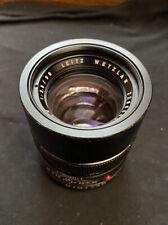 Vintage Leica Ernst Leitz Wetzlar Elmarit-R 90mm f/2.8 MF Portrait Lens As-is