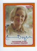 2018 Stranger Things autograph card Catherine Dyer orange 11/99