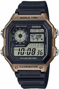 Casio AE1200WH-5AV, Chronograph Watch, Illuminator,  5 Alarms, 10 Year Battery