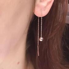 Beads Pendant Earrings Jewelry Long Chain Ball Bead Drop Dangle Earrings