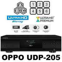 OPPO DIGITAL UDP-205 MULTI CODE REGION FREE 4K ULTRA HD BLU-RAY DVD PLAYER NEW