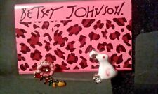 Stud Ear Rings-Free Gift Box Betsey Johnson Mismatched Flower And Rabbit