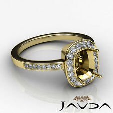Diamond Engagement Ring F-G Color 14k Yellow Gold Cushion Shape Semi Mount 1Ct