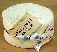 Moda Jelly Rolls Bella Solid Plain Snow/Cream - Patchwork Quilting 2.5 Inch S...