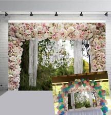 Romantic Rose Flowers Backdrop Wedding Ceremony Valentine's Day Photo Background