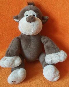 """Matalan Brown Monkey Chimp Soft Toy Comforter Stuffed Animal Cuddly Plush 12"""""""