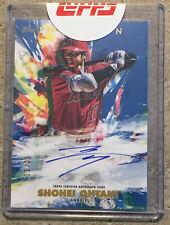 2020 Topps Inception Shohei Ohtani Rookies & Emerging Auto #'d/25 Baseball Card
