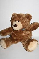 """Carters Classic Musical TEDDY BEAR 13"""" Blue Bow Plush Soft Toy 5385 Pull String"""