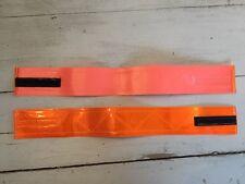 "2 3M Scotchlite Fluorescent Orange Reflective Armband 16""x 2"" Runner Bike Safety"