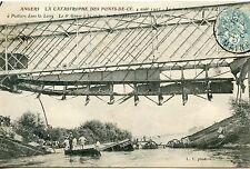 CARTE POSTALE / ANGERS  CATASTROPHE PONT DE CE / LE TRAIN DE CONVOYEURS