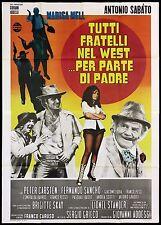 TUTTI FRATELLI NEL WEST PER PARTE DI PADRE MANIFESTO FILM WESTERN 1972 POSTER 4F