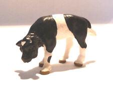222) Schleich (13111) Fleckvieh Kalb Schwarz bunt Weißer Kopf RAR Kuh Kälbchen