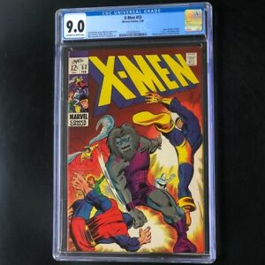 X-Men #53 (1969) 💥 CGC 9.0 OW-W 💥 Origin of Beast & Blastaar App! Marvel Comic
