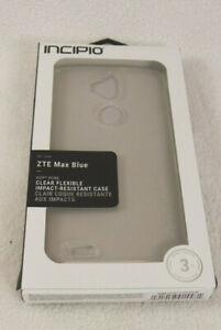 Phone Accessory/Protection/Flexible/Incipio DualPro Case for ZTE Max Blue-CLEAR