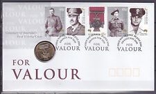 2000 FDC Victoria Cross For Valour ANZAC PNC RAM Mint $1 Coin Stamps Australia