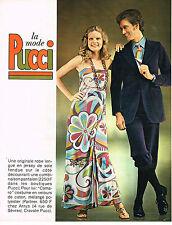 PUBLICITE  1970   PUCCI  mode ( 3 pages)