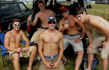 Shirtless Frat Boy College Dude Tail Gate Party Shorts Athletic PHOTO 4X6 P1805