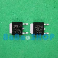 5pcs 78M12 MC78M12 LM78M12 Voltage Regulators 0.5A 12V SMD D-PAK ST Brand New