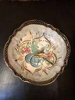"Vintage H. Bequet Quaregnon Hand Painted Fruit Bowl Belgium 8"""