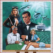 James Bond 007 Framed Box Canvas Print Picture Thunderball Sean Connery Wall Art