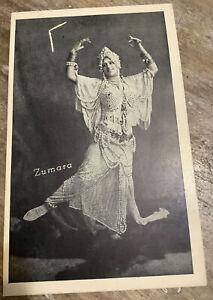 Zumata Dancer 1918 Vintage And Postcard Costume