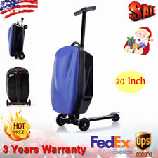 20 inch Scooter Suitcase Ride-on Travel Trolley Luggage Fashion Bags Traval Usa
