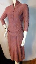 Vintage 1940s CREPE DRAPE DRESS Bust 34