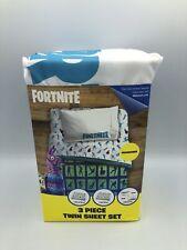 Fortnite Llama 3 Piece Microfiber Twin Bed Sheet Set Kids