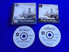 ps1 FINAL FANTASY ANTHOLOGY European Edition IV + V Playstation Game PAL ps2 ps3