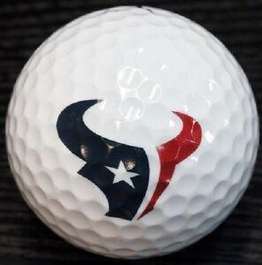 1 Dozen (Houston Texans NFL Logo) Nike Mix Mint Used Golf Balls