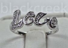 925 Sterling Silver White C.Z. ~LOVE~   Ring Size 9