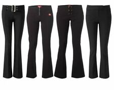Bootcut Viscose Mid Rise Trousers for Women