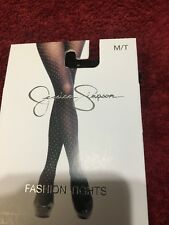 JESSICA SIMPSON M/T Fashion TIGHTS  Silver Dot Black NWT  MSRP: $16.00