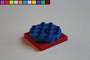 Lego Duplo - Platte drehbar - Plattform - Drehstein - Drehplatte - rot blau