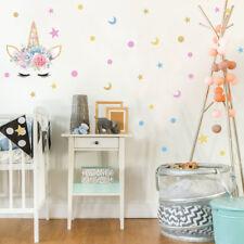 Delicate Eyelash Flowers Wall Sticker For Girls Room Stars Xmas Decor WL