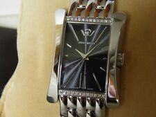 NEUVE SUBLIME PHILIP WATCH CINTRÉE 24 DIAMANTS TYPE ART DÉCO RECTANGLE