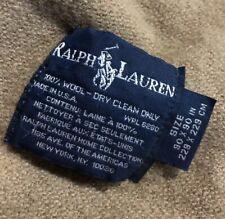 Vintage Polo Ralph lauren Wool Blanket 90x90 Tan Beige Made In USA