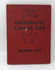 ARITHMETIC CAN BE FUN Munro Leaf Vintage Kids book 1949 First Edition
