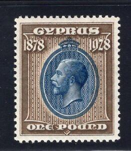1928 Cyprus. SC#123. SG#1132. Mint, Lightly Hinged, XF.
