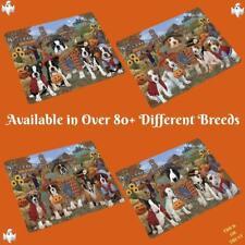 Halloween 'Round Town Fall Festival Pumpkin Dog Cat Pet Sherpa Fleece Blanket