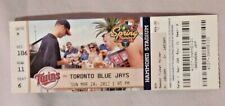 2013 Minnesota Twins Vs Toronto Blue Jays 3/24/13 unused MLB Ticket