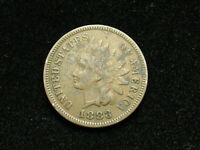 JUST IN!! VF 1883 INDIAN HEAD CENT PENNY w/ PARTIAL LIBERTY &  DIAMONDS 84B
