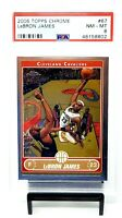 2006 Topps Chrome LA Lakers Star LEBRON JAMES Basketball Card PSA 8 NM-MINT