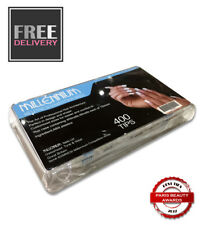 MILLENNIUM x 400 NAIL TIPS - COMPETITION WHITE ~ FREE & FAST POSTAGE