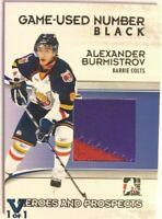 2009-10 ITG Heroes & Prospects Game-Used Number Black Alexander Burmistrov Vault