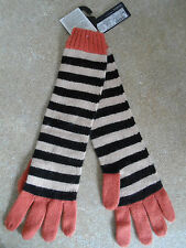 MARKS AND SPENCER ORANGE & BLACK LONG GLOVES ANGORA MIX BNWT RRP £15
